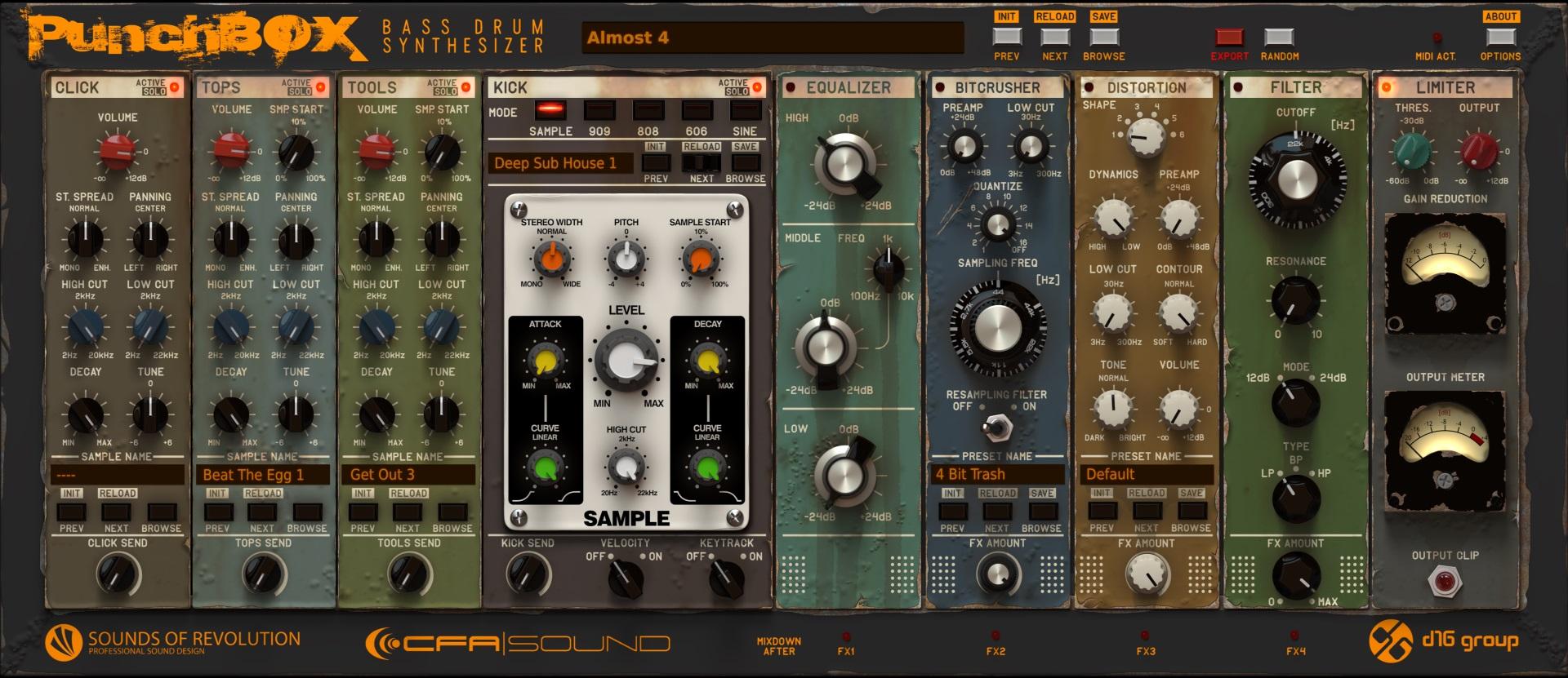 VSTi Bassdrum Synthesizer